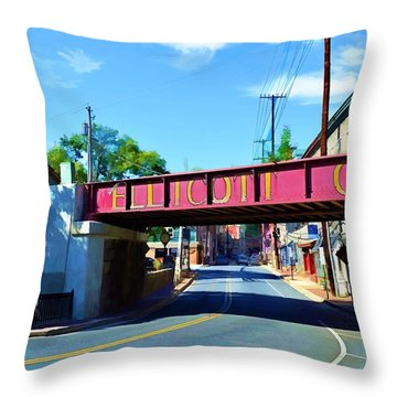 Throw Pillow featuring the photograph Main Street - Ellicott City by Dana Sohr