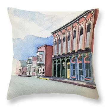Main Street In Gosport Throw Pillow by Katherine Miller