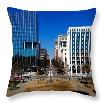 Main Street South Carolina Throw Pillow