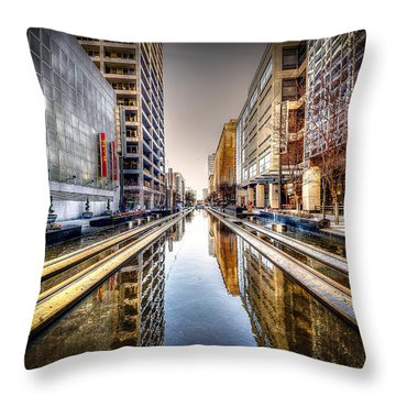 Main Street Square Throw Pillow