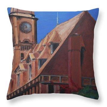 Main Street Station Throw Pillow
