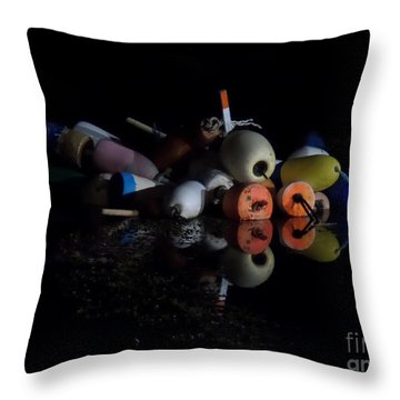 Maine After Dark Throw Pillow