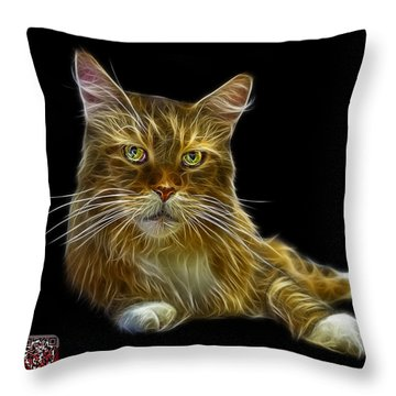 Maine Coon Cat - 3926 - Bb Throw Pillow by James Ahn