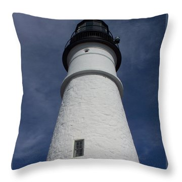 Throw Pillow featuring the photograph Maine Lighthouse by Gena Weiser