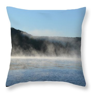 Throw Pillow featuring the photograph Maine Morning by James Petersen