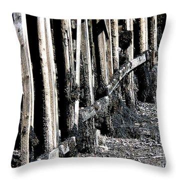 Maine Pier Throw Pillow
