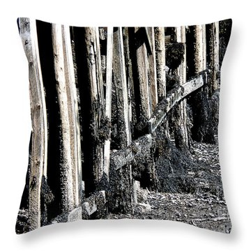 Maine Pier Throw Pillow
