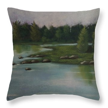 Maine Reflections Throw Pillow