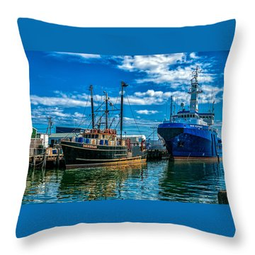 Maine Responder And Meridian Portland Me Throw Pillow by Bob Orsillo