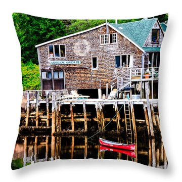 Maine Scene Throw Pillow