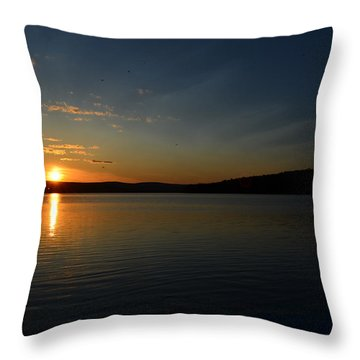 Throw Pillow featuring the photograph Maine Sunset by James Petersen