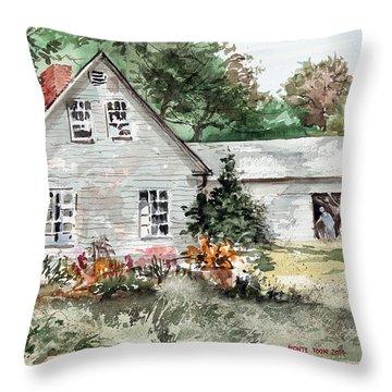 Maine Sunshine Throw Pillow