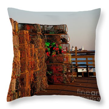 Maine Traps Throw Pillow