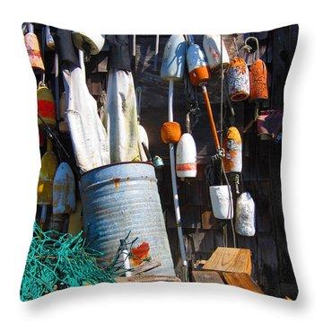 Maine Wall Art Throw Pillow