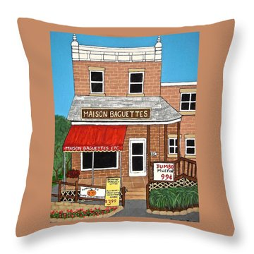 Maison Baguettes Throw Pillow by Stephanie Moore
