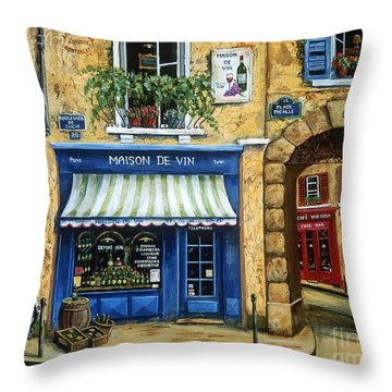 Maison De Vin Throw Pillow by Marilyn Dunlap