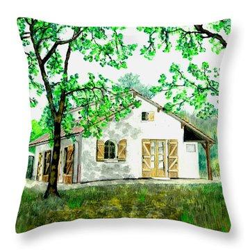 Maison En Medoc Throw Pillow