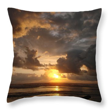 Throw Pillow featuring the photograph Majestic Sunset by Athena Mckinzie