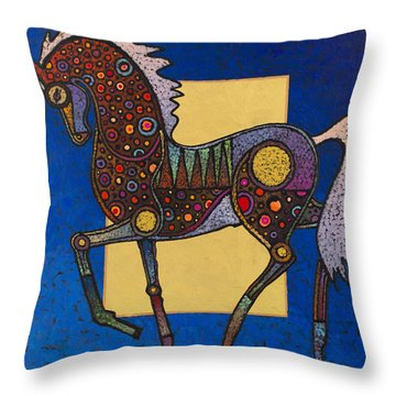 Throw Pillow featuring the painting Majestic by Bob Coonts
