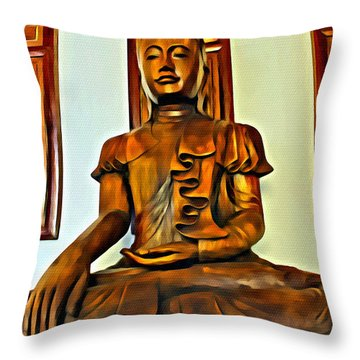 Majestic Buddha Throw Pillow