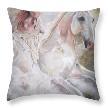 Majestic Flow Throw Pillow