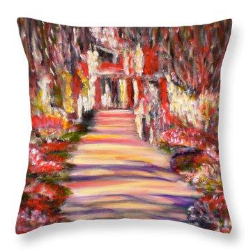 Majestic Garden Throw Pillow
