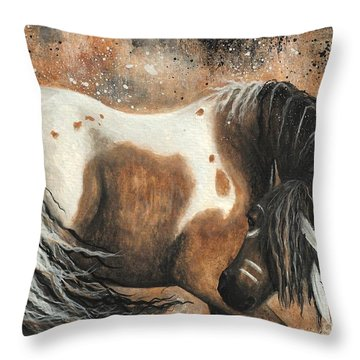 Majestic Horse Series 74 Throw Pillow by AmyLyn Bihrle