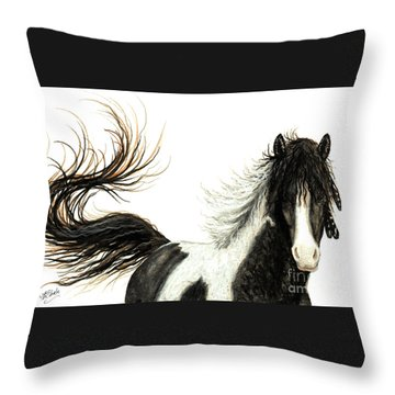 Majestic Horse Series #76 Throw Pillow by AmyLyn Bihrle