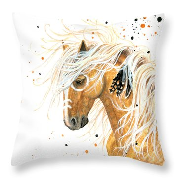 Majestic Palomino Horse 84 Throw Pillow