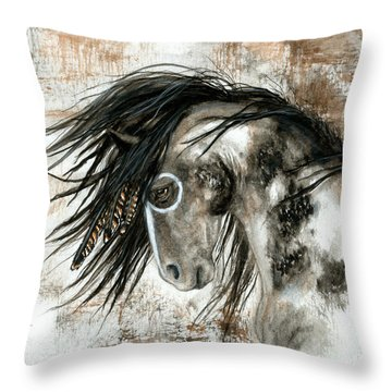 Majestic Horse Series 88 Throw Pillow by AmyLyn Bihrle