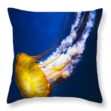 Majestic Jellyfish Throw Pillow