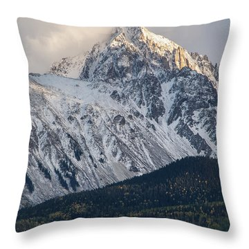 Majestic Light - Mt. Sneffels  Throw Pillow