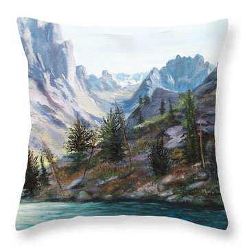 Majestic Montana Throw Pillow