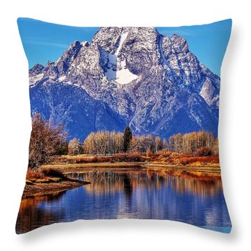 Throw Pillow featuring the photograph Majestic Moran by Benjamin Yeager