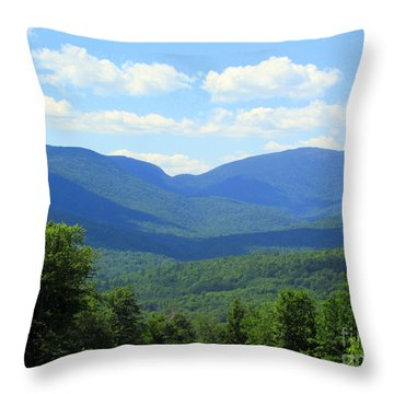 Majestic Mountains Throw Pillow by Elizabeth Dow