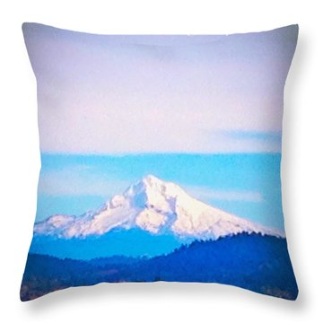 Majestic Mt Hood Throw Pillow