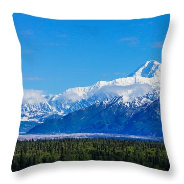 Majestic Mt Mckinley Throw Pillow