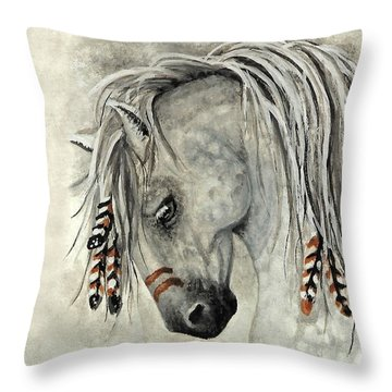 Majestic Mustang 30 Throw Pillow by AmyLyn Bihrle