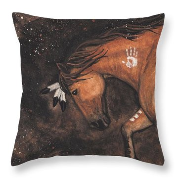 Majestic Mustang Series 40 Throw Pillow by AmyLyn Bihrle