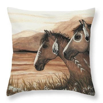 Majestic Mustang Series 42 Throw Pillow by AmyLyn Bihrle
