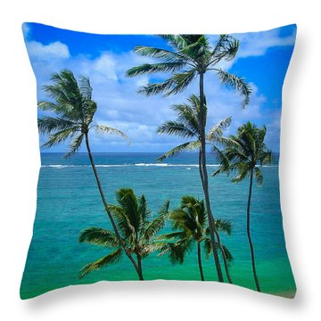 Majestic Palm Trees Throw Pillow