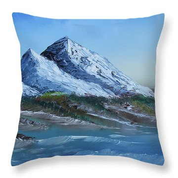 Majestic Peaks Throw Pillow