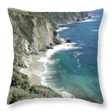 Majestic Sea Throw Pillow by Carla Carson
