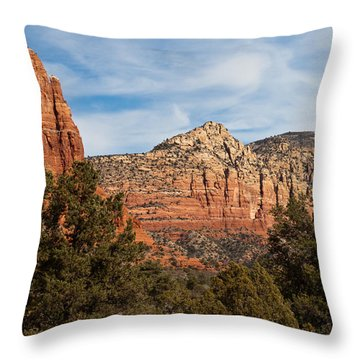 Throw Pillow featuring the photograph Majestic Sedona by Randy Bayne