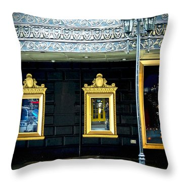 Majestic Theatre Lightpost Throw Pillow