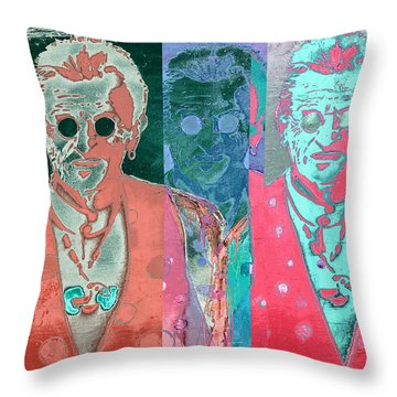 Major Cool Throw Pillow by Carol Leigh