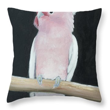 Major Mitchell Cockatoo Throw Pillow by Jan Matson