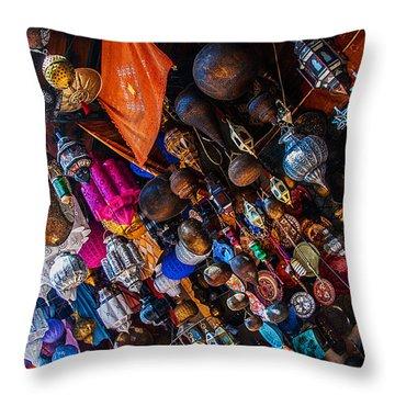 Marrakech Lanterns Throw Pillow