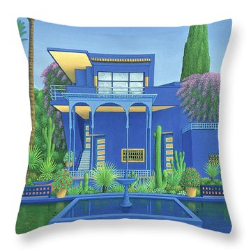 Majorelle Gardens, Marrakech Throw Pillow