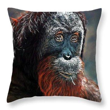 Makan Throw Pillow by Linda Becker